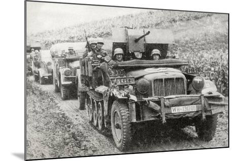 A German Half-Track Mounted Anti-Aircraft Gun--Mounted Photographic Print