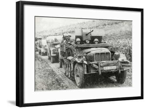 A German Half-Track Mounted Anti-Aircraft Gun--Framed Art Print