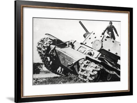 Kv-1 Kliment Voroshilov Heavy Tank--Framed Art Print
