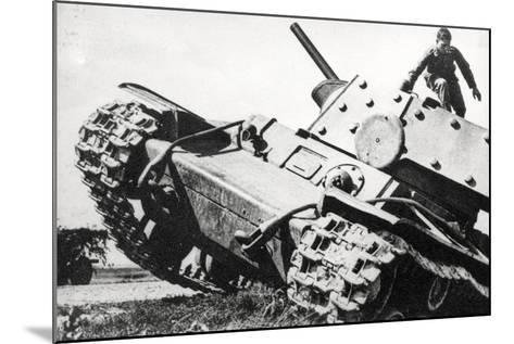 Kv-1 Kliment Voroshilov Heavy Tank--Mounted Photographic Print