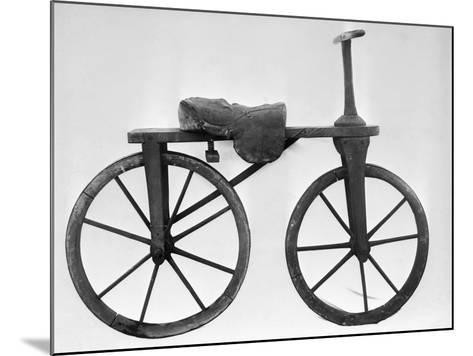 Early Bicycle--Mounted Photographic Print