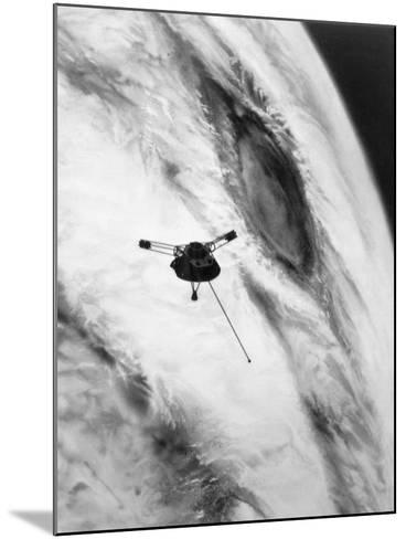 Pioneer Passing over Jupiter's Red Spot--Mounted Photographic Print