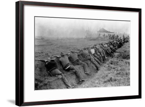 American Soldiers Practicing Shooting During Spanish-American War--Framed Art Print
