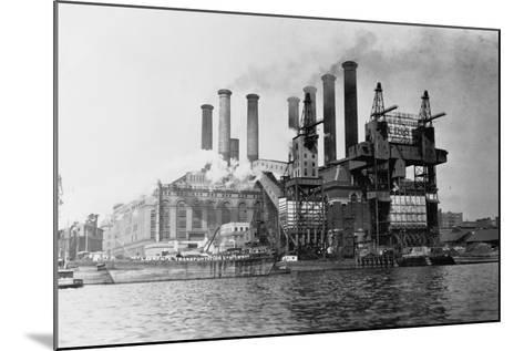 New York Edision Company Power Plant--Mounted Photographic Print