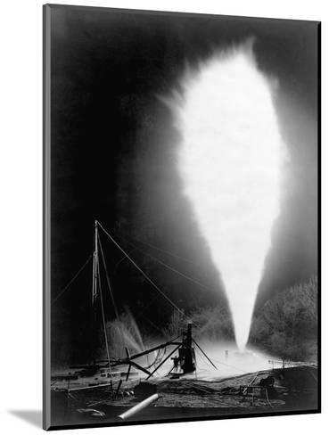 Natural Gas Wells, 1906. Burning Well at Independence, Kansas-H^ W. Talbott and Chas. E. Craven-Mounted Photographic Print