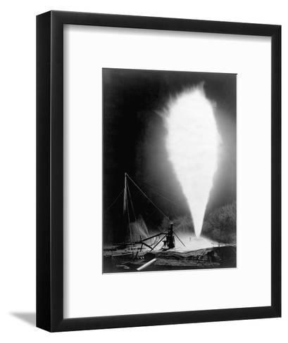Natural Gas Wells, 1906. Burning Well at Independence, Kansas-H^ W. Talbott and Chas. E. Craven-Framed Art Print