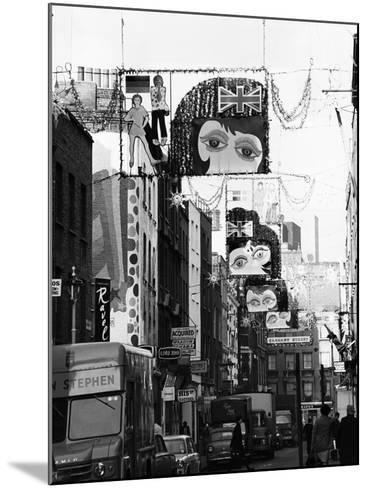 Christmas Decorations Along Carnaby Street in Soho--Mounted Photographic Print