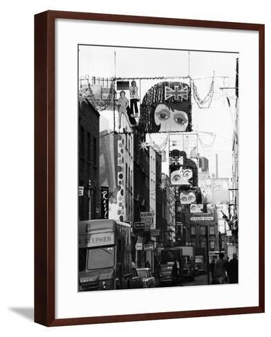 Christmas Decorations Along Carnaby Street in Soho--Framed Art Print