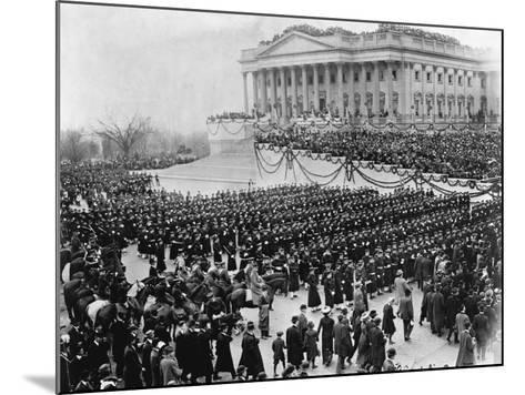 Naval Academy Cadets Attending Wilson's Inauguration--Mounted Photographic Print