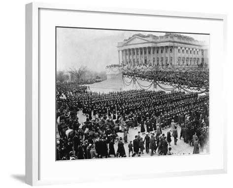Naval Academy Cadets Attending Wilson's Inauguration--Framed Art Print
