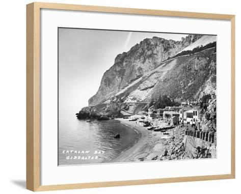 Catalan Bay--Framed Art Print