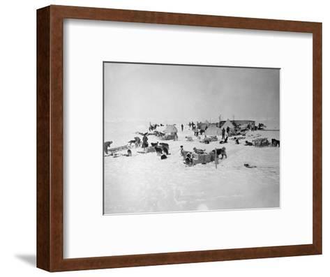 Shackleton's Base Camp on the Ross Ice Shelf--Framed Art Print