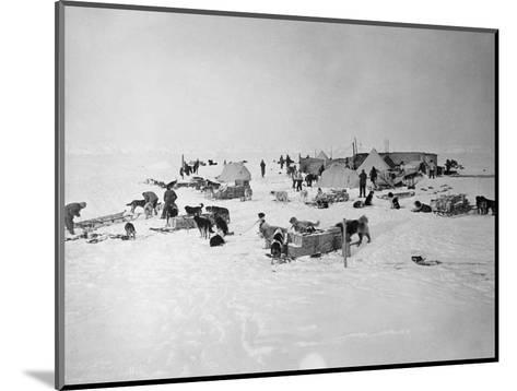 Shackleton's Base Camp on the Ross Ice Shelf--Mounted Photographic Print