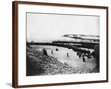 Troops Ready for Evacuation at Dunkirk--Framed Art Print