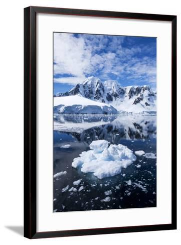 Mountain Peaks, Lemaire Channel, Antarctica--Framed Art Print