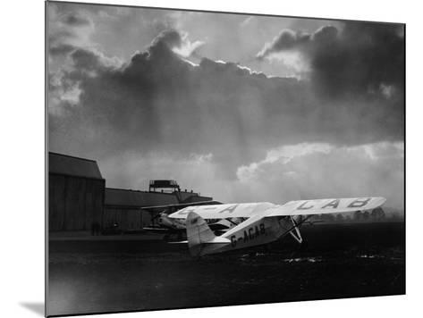 """Amy Johnson's """"The Desert Cloud"""" Preparing for Take Off--Mounted Photographic Print"""