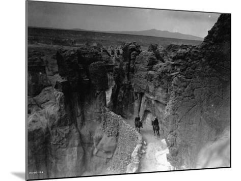 Old Trail at Acoma-Edward S^ Curtis-Mounted Photographic Print