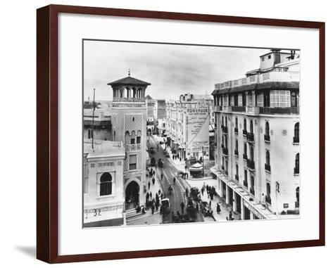 Snow in a Casablanca Street--Framed Art Print