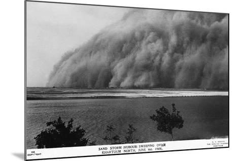 Sand Storm or Hunoub in North Khartoum--Mounted Photographic Print
