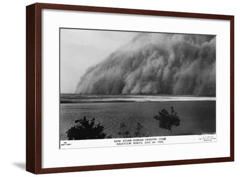 Sand Storm or Hunoub in North Khartoum--Framed Art Print