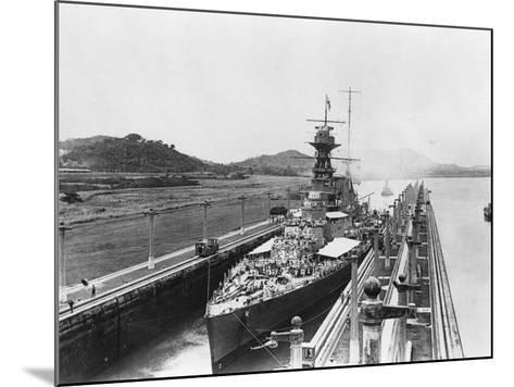 HMS Hood in Panama Canal--Mounted Photographic Print