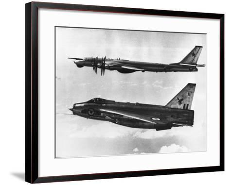 British Fighter Intercepting Soviet Bomber--Framed Art Print