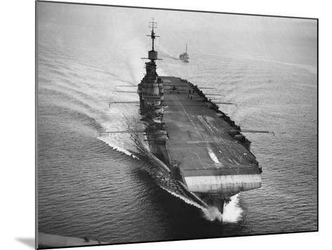 HMS Illustrious, 1942--Mounted Photographic Print