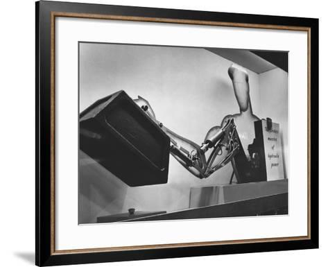 Mechanical Handling Exhibition: an Advertisement for the Exhibition--Framed Art Print