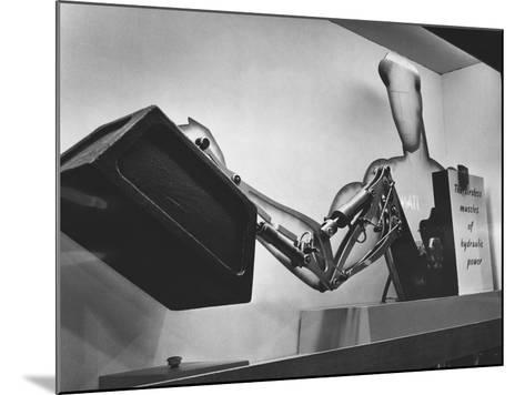 Mechanical Handling Exhibition: an Advertisement for the Exhibition--Mounted Photographic Print