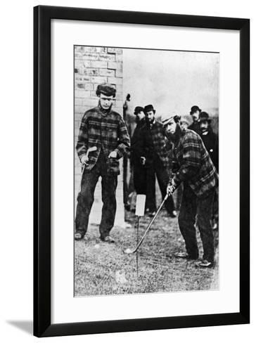 Tom Morris Preparing to Swing His Golf Club--Framed Art Print