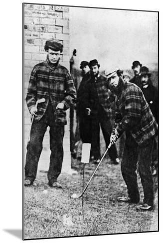 Tom Morris Preparing to Swing His Golf Club--Mounted Photographic Print