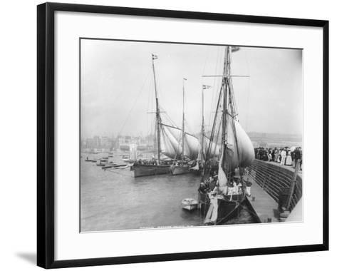 Sailing Yachts at Ramsgate--Framed Art Print