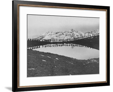 Soldiers Pass Mountain Lake--Framed Art Print