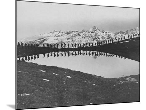 Soldiers Pass Mountain Lake--Mounted Photographic Print