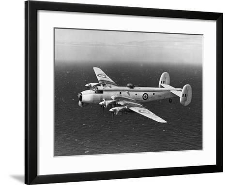 Avro Shackleton Patrolling Coastal Waters--Framed Art Print