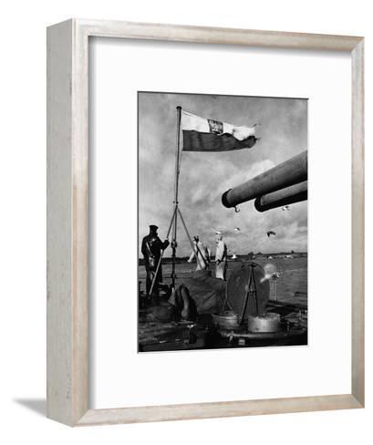 Polish Ships with British Fleet--Framed Art Print