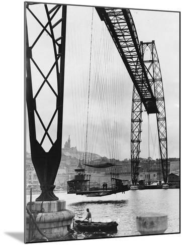 Transporter Bridge in Marseille--Mounted Photographic Print