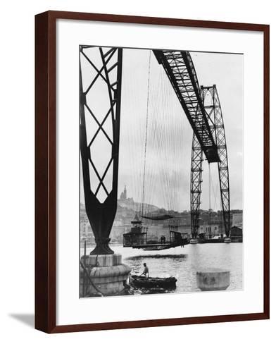Transporter Bridge in Marseille--Framed Art Print