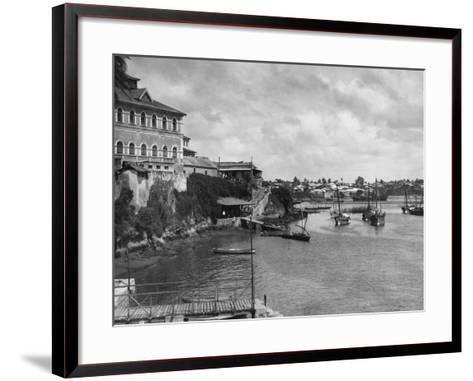 Mombasa Harbor--Framed Art Print