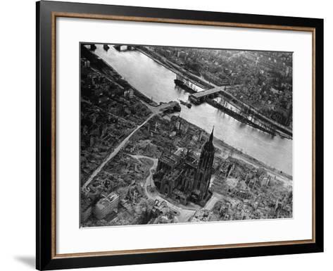 Bomb Damaged Frankfurt, 1945--Framed Art Print