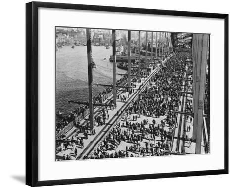 Opening of the Sydney Harbour Bridge--Framed Art Print