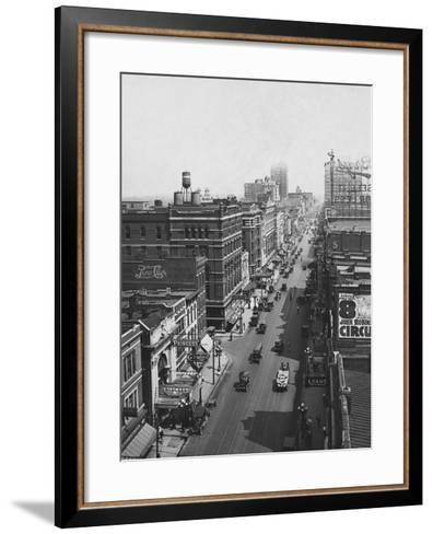 Main Street--Framed Art Print
