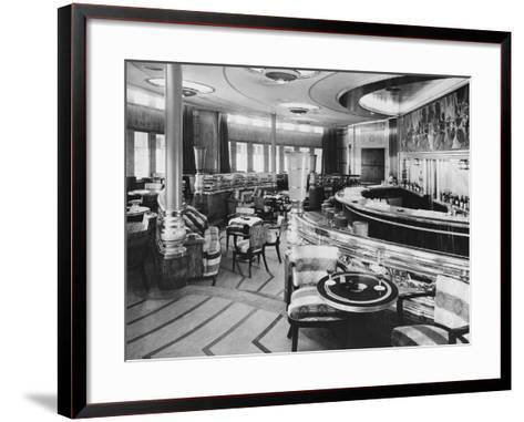 Cocktail Bar of the Queen Mary--Framed Art Print