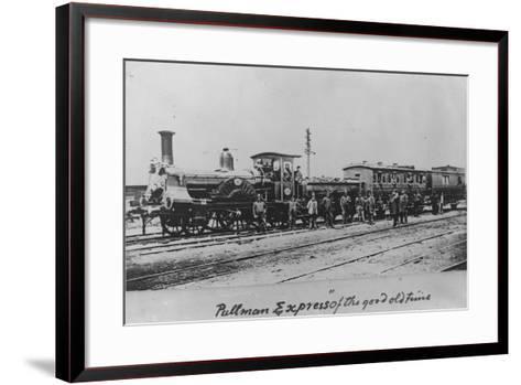 Pullman Express Locomotive--Framed Art Print