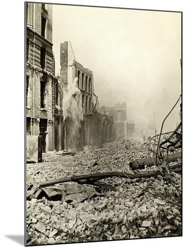 San Francisco Earthquake Rubble--Mounted Photographic Print
