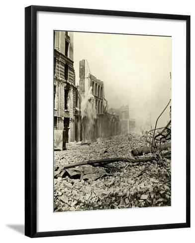 San Francisco Earthquake Rubble--Framed Art Print