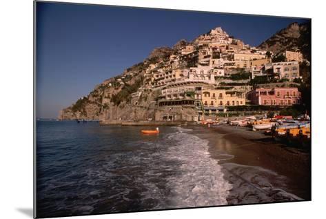 Beach in Positano, Italy-Vittoriano Rastelli-Mounted Photographic Print