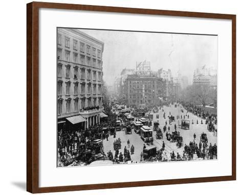 Broadway at Madison Square Park in New York City, 1893--Framed Art Print