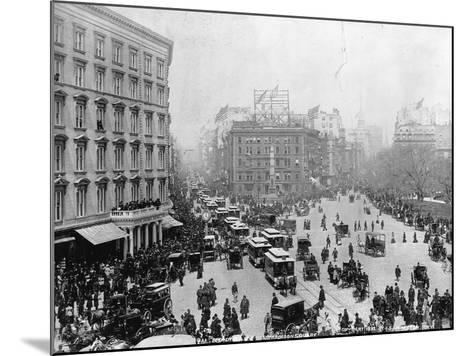 Broadway at Madison Square Park in New York City, 1893--Mounted Photographic Print