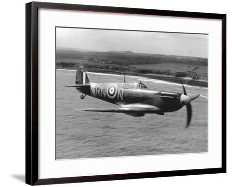 Spitfire in Flight--Framed Art Print